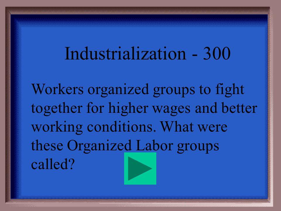 Industrialization - 200 Strikes
