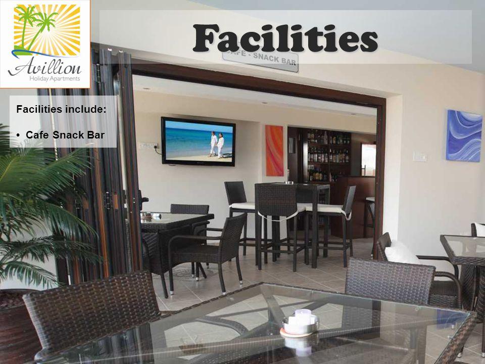 Facilities include: Cafe Snack Bar Facilities
