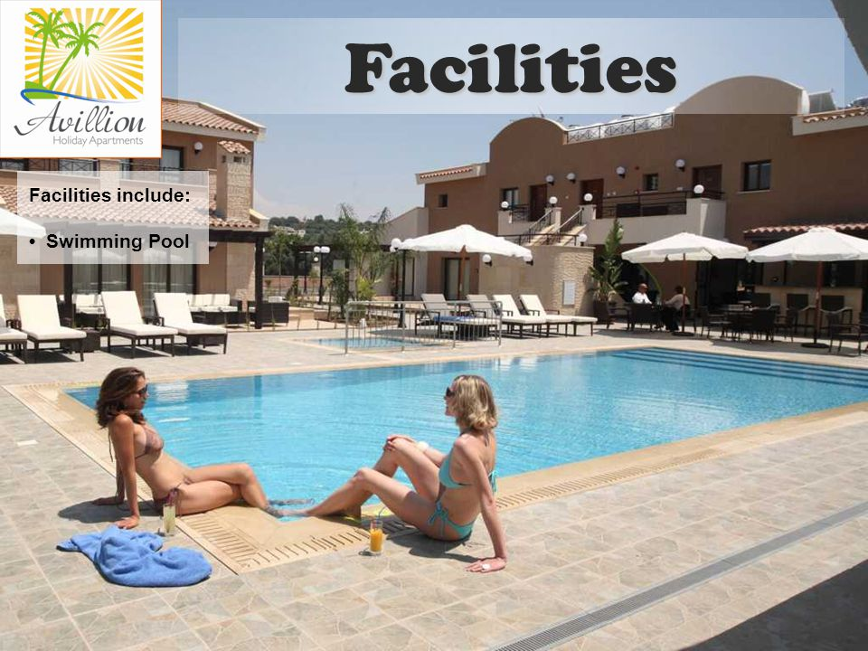 Facilities include: Swimming Pool Facilities