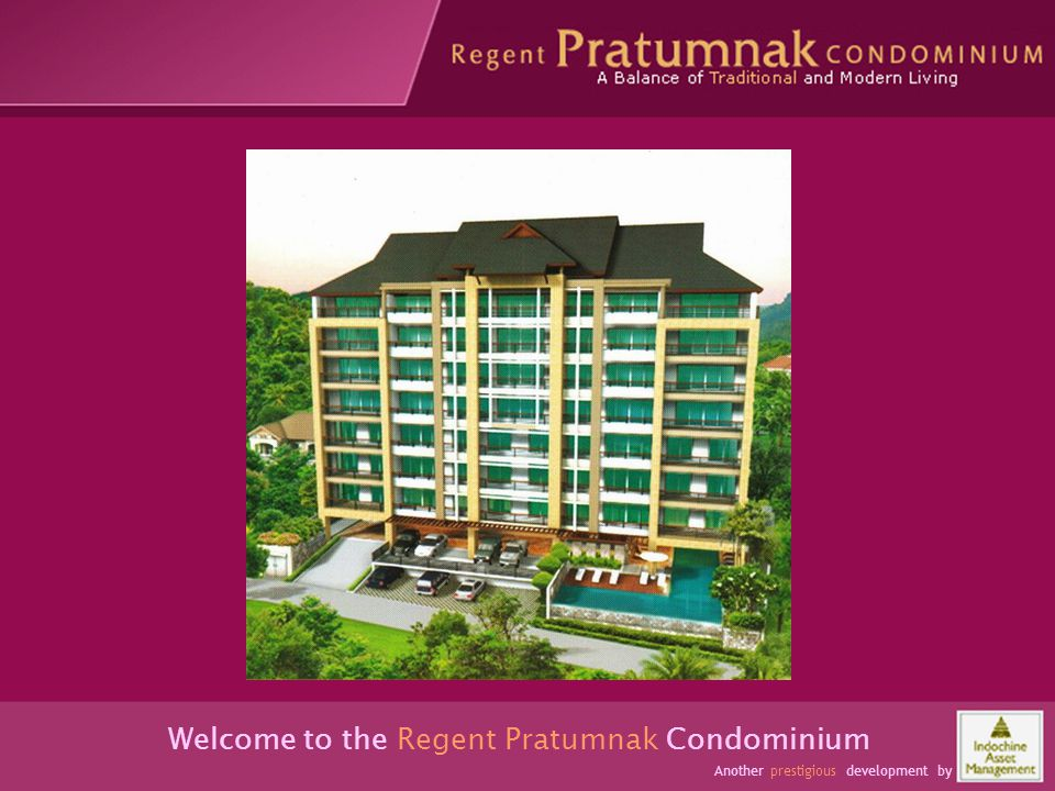 Occupants have space and comfort Welcome to the Regent Pratumnak Condominium Another prestigious development by