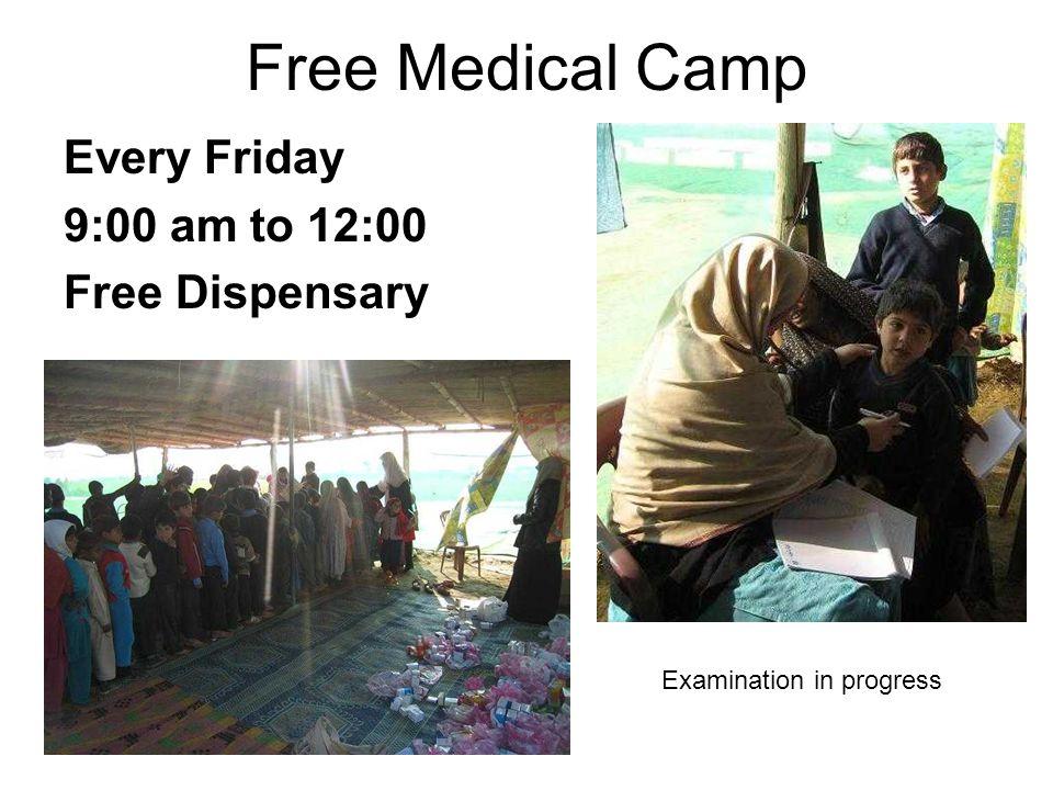 Every Friday 9:00 am to 12:00 Free Dispensary Examination in progress