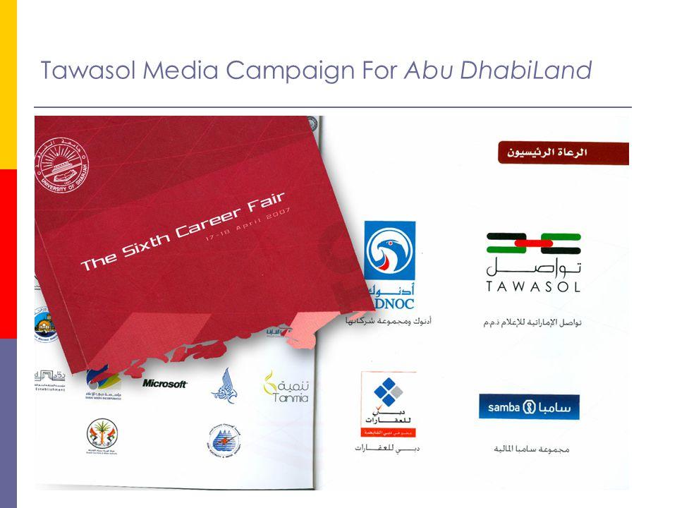 Tawasol Media Campaign For Abu DhabiLand