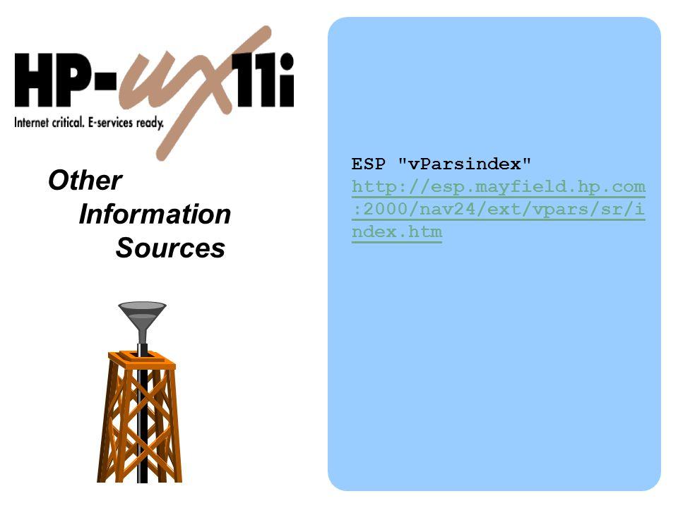 Other Information Sources ESP