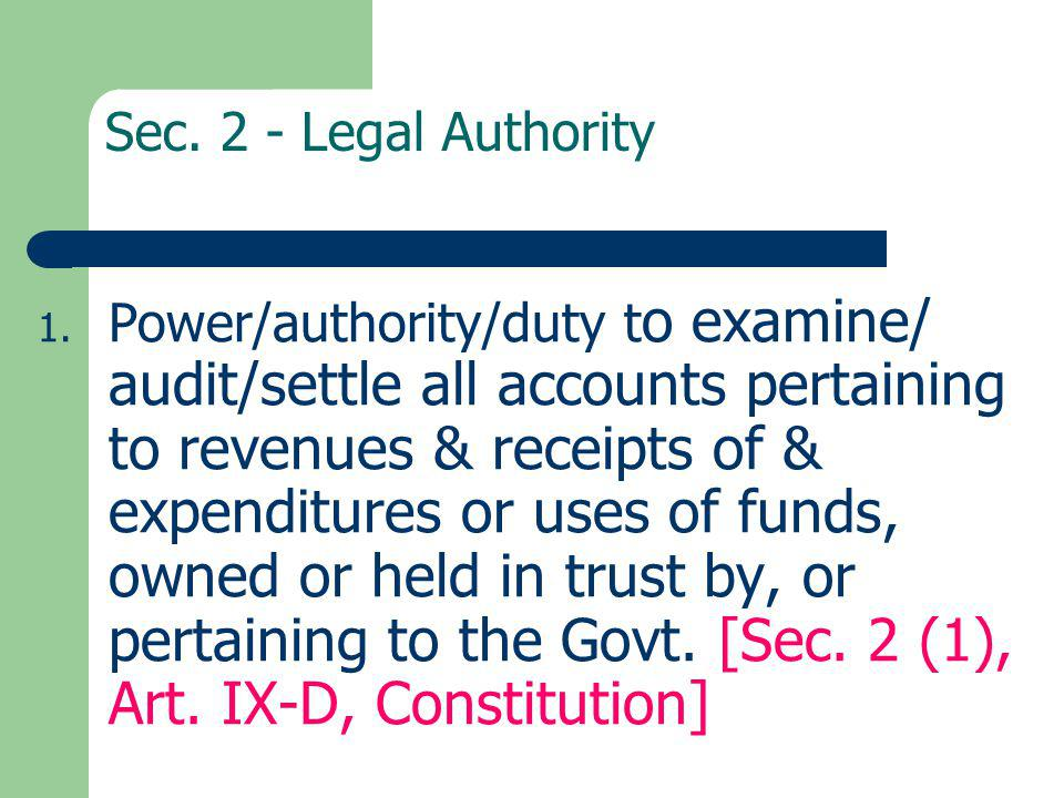 Responsibilities of Auditor (Sec.7.3 of RRSA) 1.