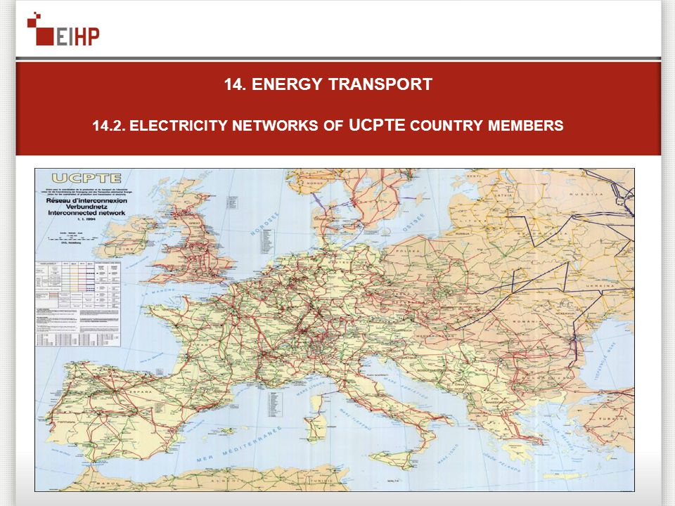14. ENERGY TRANSPORT 14.2. ELECTRICITY NETWORKS OF UCPTE COUNTRY MEMBERS