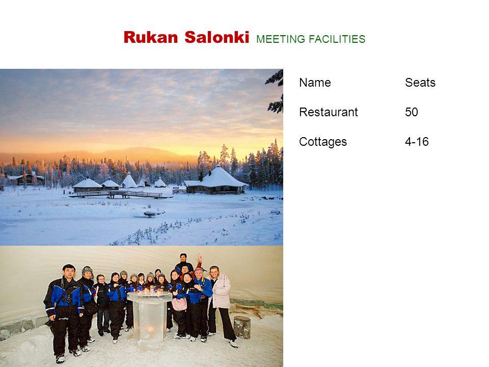 NameSeats Restaurant 50 Cottages4-16 Rukan Salonki MEETING FACILITIES