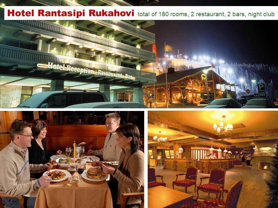 Hotel Rantasipi Rukahovi total of 180 rooms, 2 restaurant, 2 bars, night club