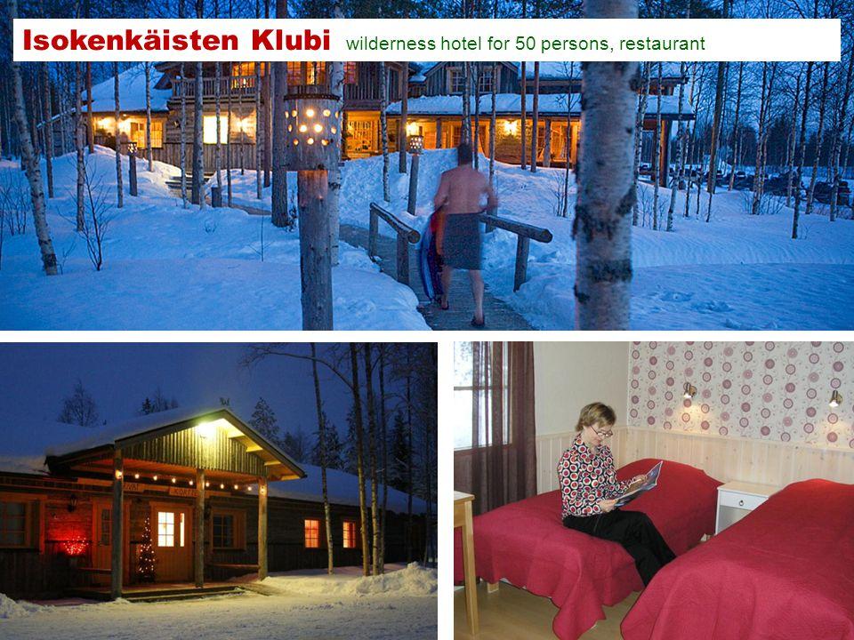 Isokenkäisten Klubi wilderness hotel for 50 persons, restaurant