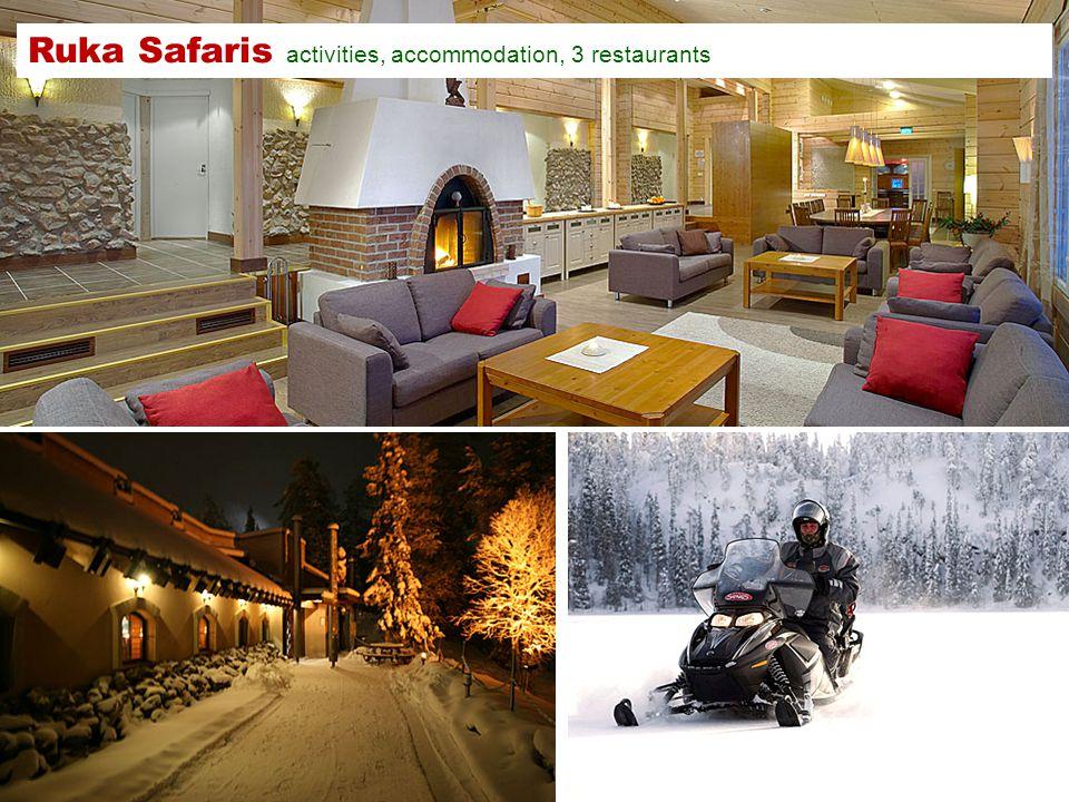 Ruka Safaris activities, accommodation, 3 restaurants