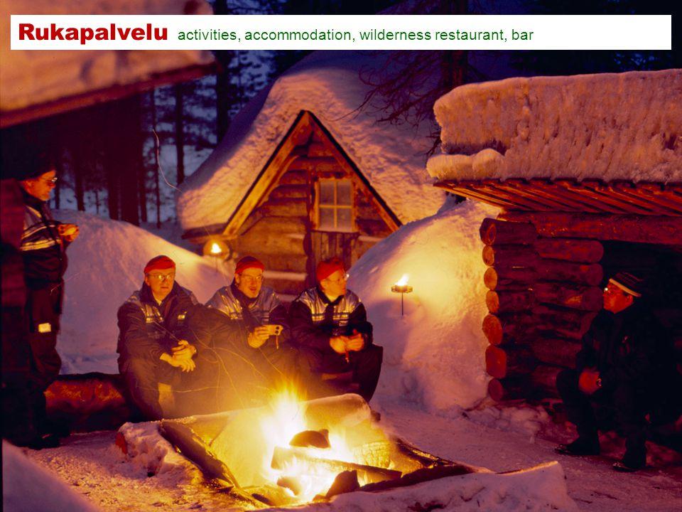 Rukapalvelu activities, accommodation, wilderness restaurant, bar