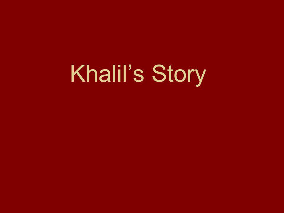 a Khalil is a 63 year-old Christian.His family has lived in Bethlehem for centuries.