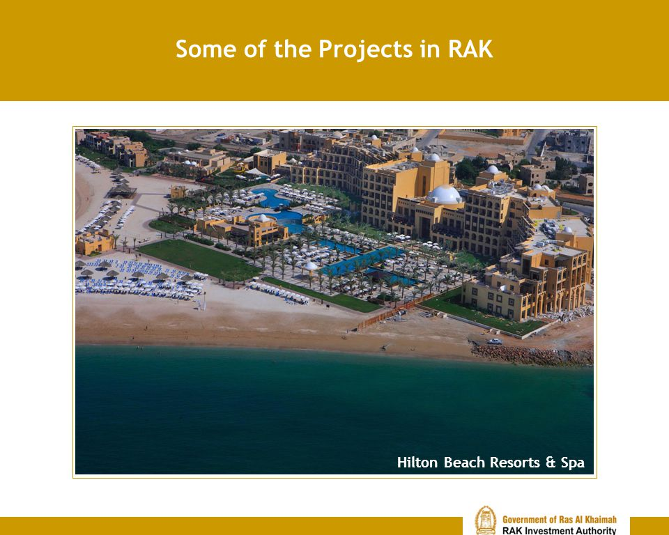 Some of the Projects in RAK Hilton Beach Resorts & Spa