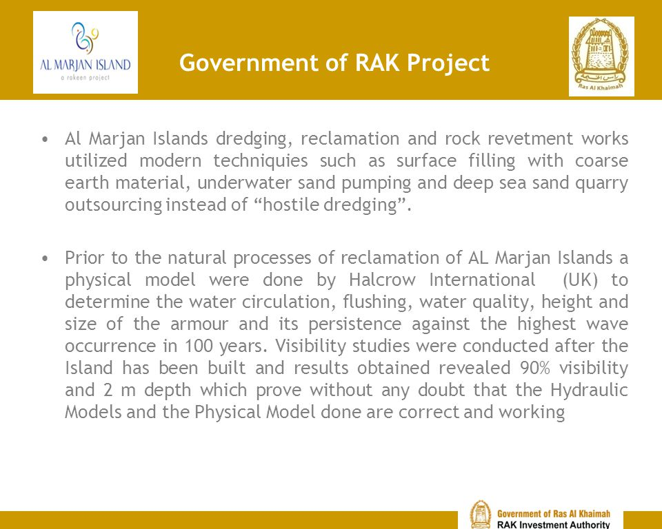 Some of the Projects in RAK Al Hamra Palace