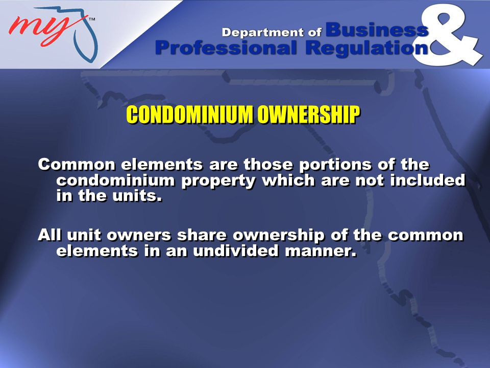 The cost of operating and maintaining the condominium is funded through collection of assessments by the association.