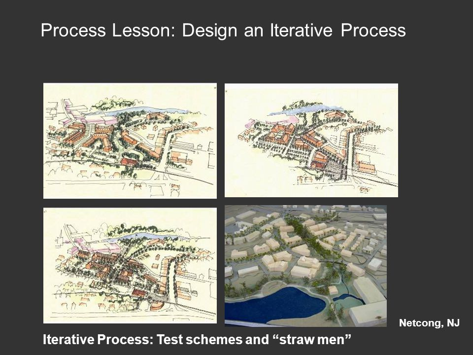 Iterative Process: Test schemes and straw men Netcong, NJ Process Lesson: Design an Iterative Process