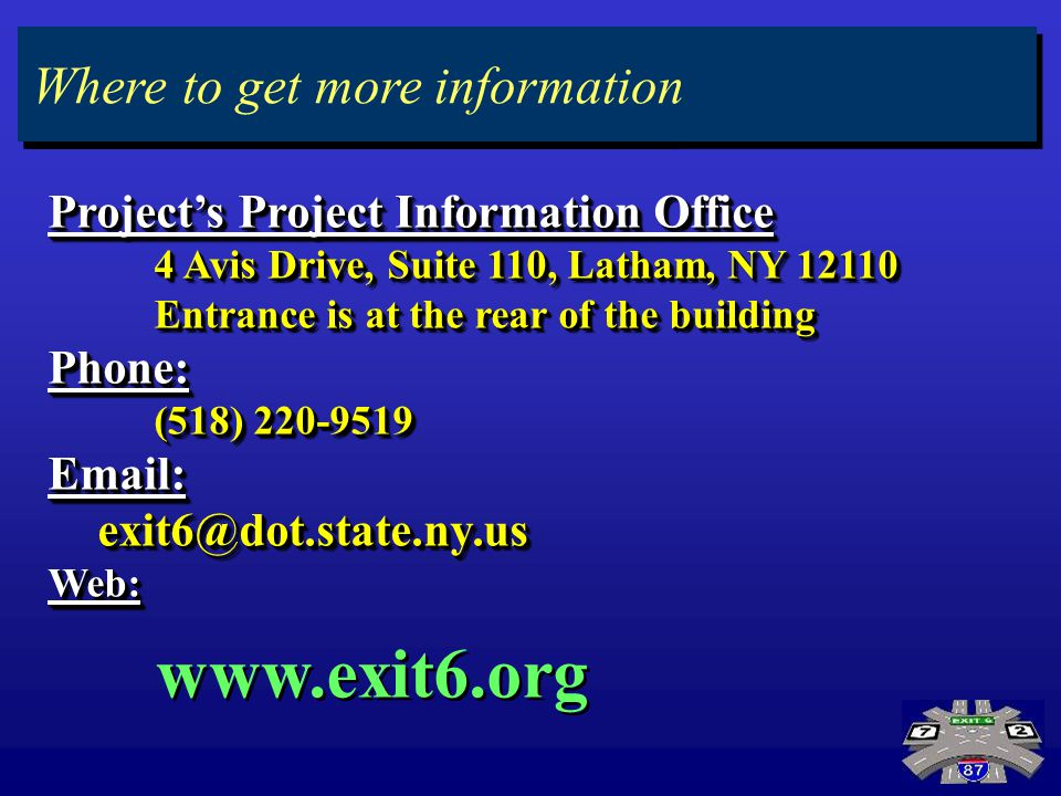 Preferred Alternative Projects Project Information Office 4 Avis Drive, Suite 110, Latham, NY 12110 4 Avis Drive, Suite 110, Latham, NY 12110 Entrance