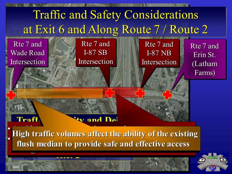 Traffic and Safety Considerations at Exit 6 and Along Route 7 / Route 2 Traffic and Safety Considerations at Exit 6 and Along Route 7 / Route 2 Rte 7