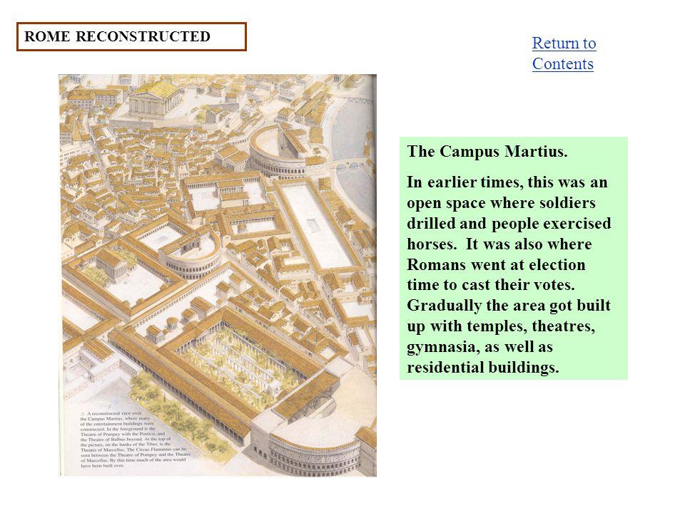 ROME RECONSTRUCTED The Campus Martius.