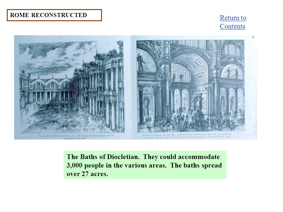 ROME RECONSTRUCTED The Baths of Diocletian.