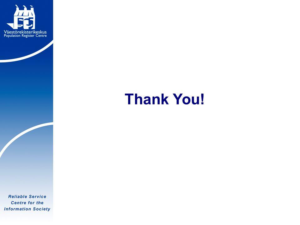 Tietoyhteiskunnan luotettava palvelukeskus Thank You!