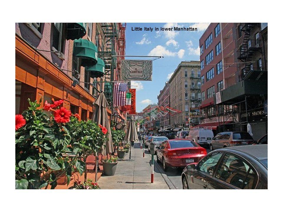 Little Italy in lower Manhattan
