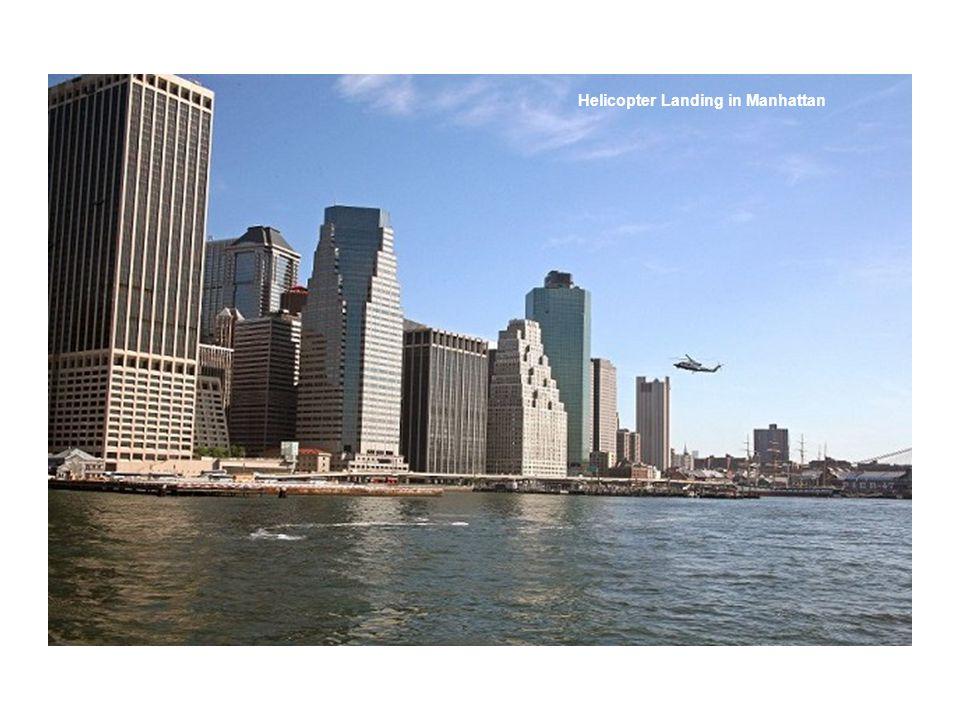 Helicopter Landing in Manhattan