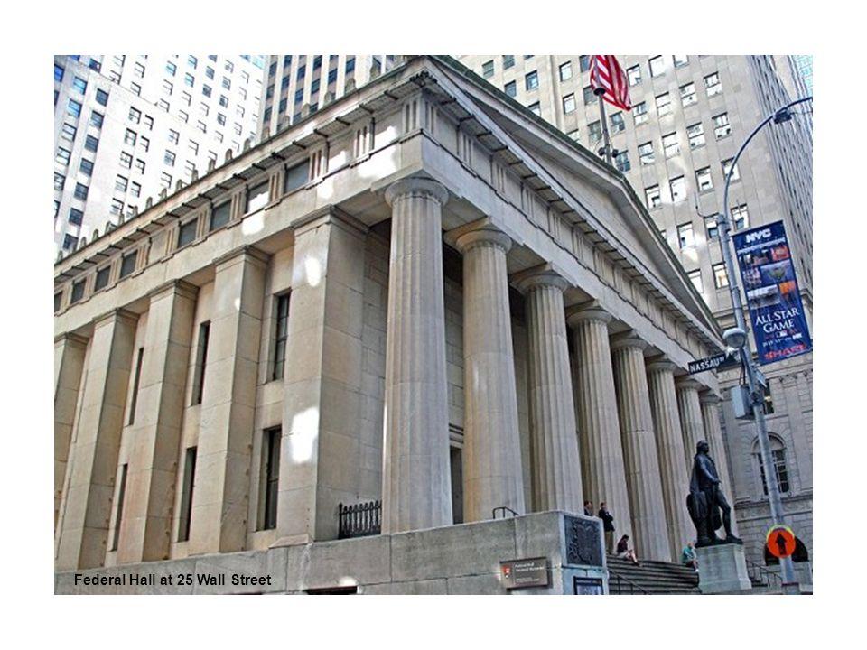 Federal Hall at 25 Wall Street