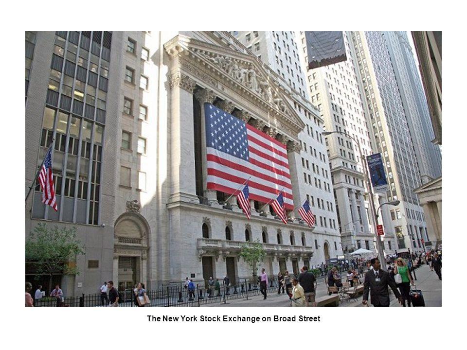 The New York Stock Exchange on Broad Street