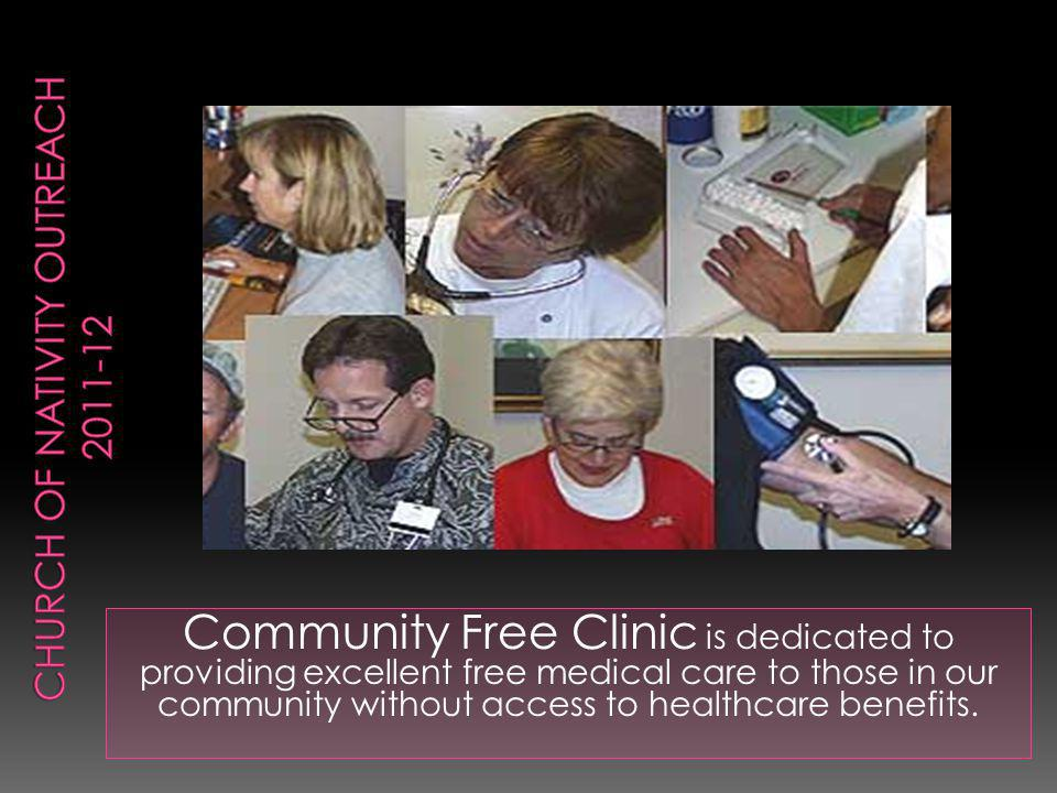 Community Free Clinic is dedicated to providing excellent free medical care to those in our community without access to healthcare benefits.