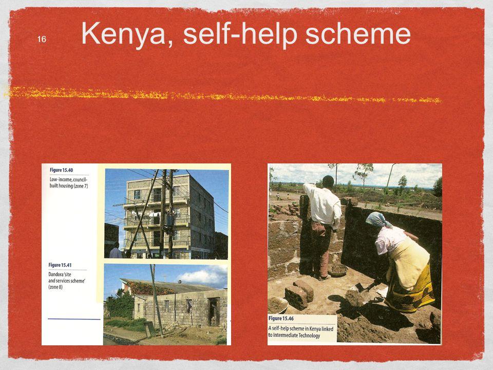 Kenya, self-help scheme 16