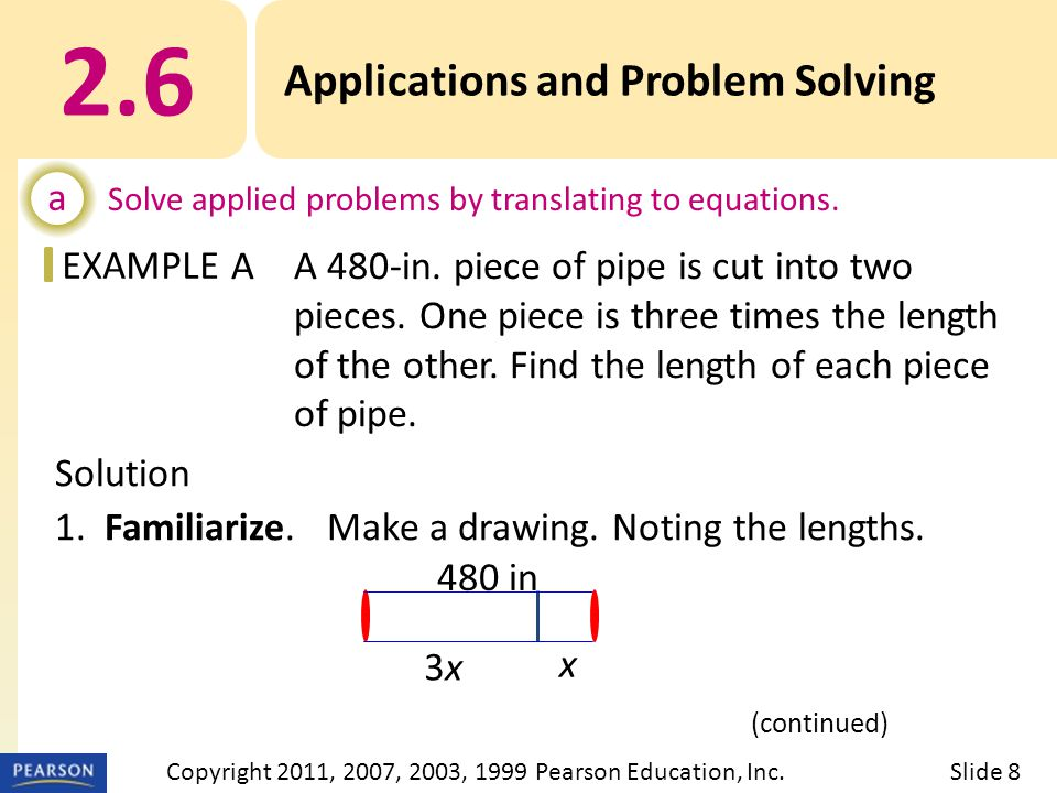 EXAMPLE Solution 1. Familiarize. Make a drawing.