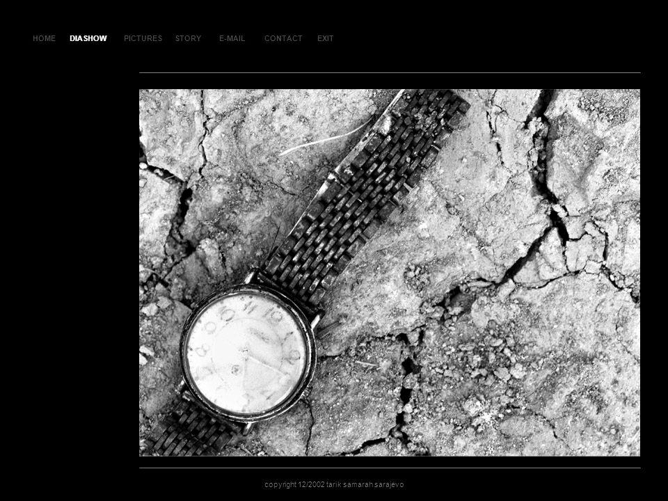 HOMEDIASHOWPICTURESE-MAILCONTACTEXIT copyright 12/2002 tarik samarah sarajevo STORY SL AJ D 13 9 DIASHOW