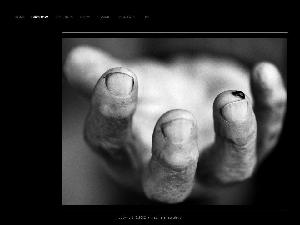 HOMEDIASHOWPICTURESE-MAILCONTACTEXIT copyright 12/2002 tarik samarah sarajevo STORY SL AJ D 1 DIASHOW