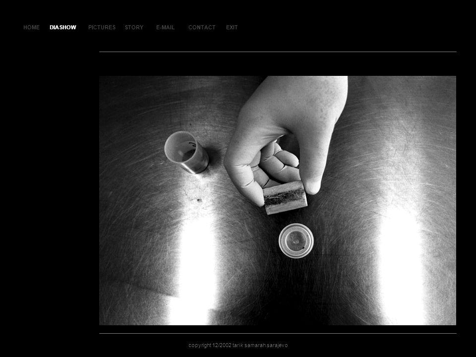 HOMEDIASHOWPICTURESE-MAILCONTACTEXIT copyright 12/2002 tarik samarah sarajevo STORY SLA JD 60 DIASHOW