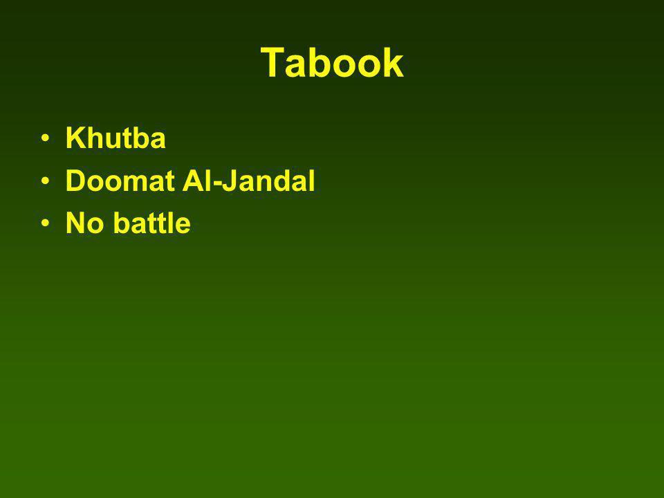 Tabook Khutba Doomat Al-Jandal No battle