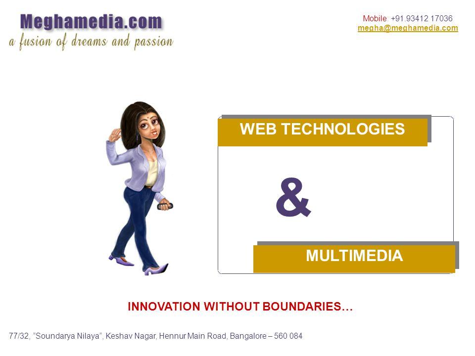 Mobile: +91.93412 17036 megha@meghamedia.com 77/32, Soundarya Nilaya, Keshav Nagar, Hennur Main Road, Bangalore – 560 084 MULTIMEDIA & WEB TECHNOLOGIES INNOVATION WITHOUT BOUNDARIES…