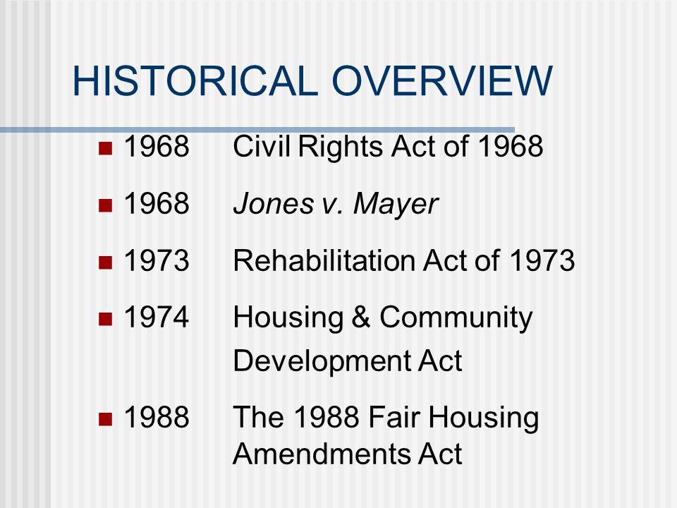 HISTORICAL OVERVIEW 1896Plessy v. Ferguson 1948Shelly v.