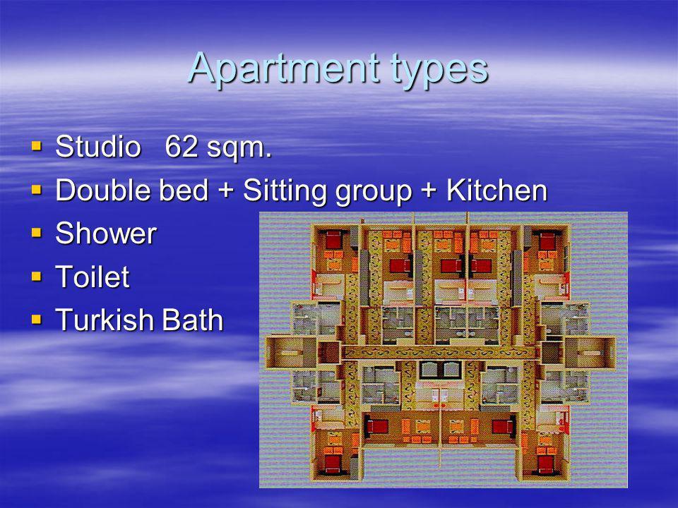 Apartment types Studio 62 sqm. Studio 62 sqm.