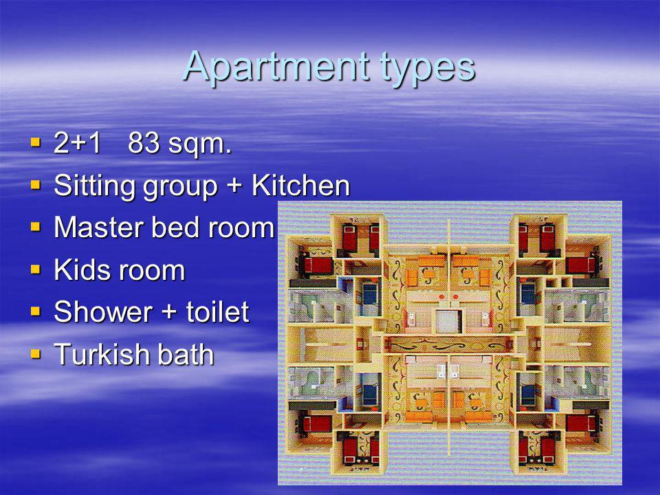 Apartment types 2+1 83 sqm. 2+1 83 sqm.