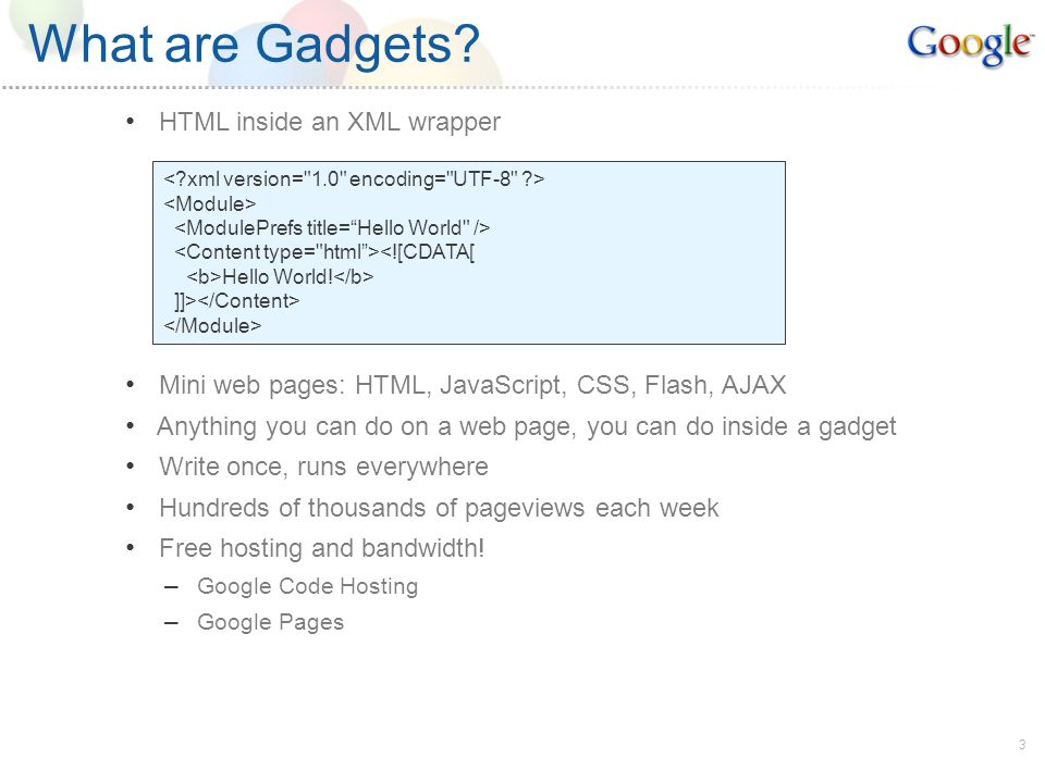 4 Examples of Google Gadgets
