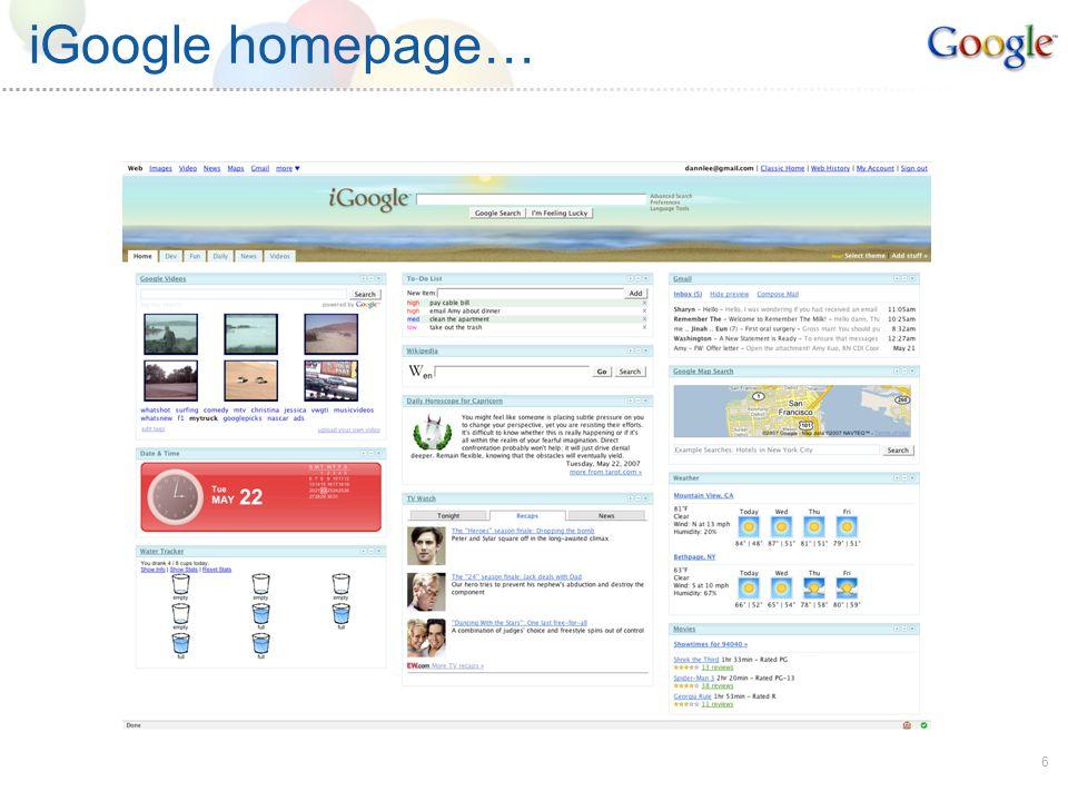 6 iGoogle homepage…