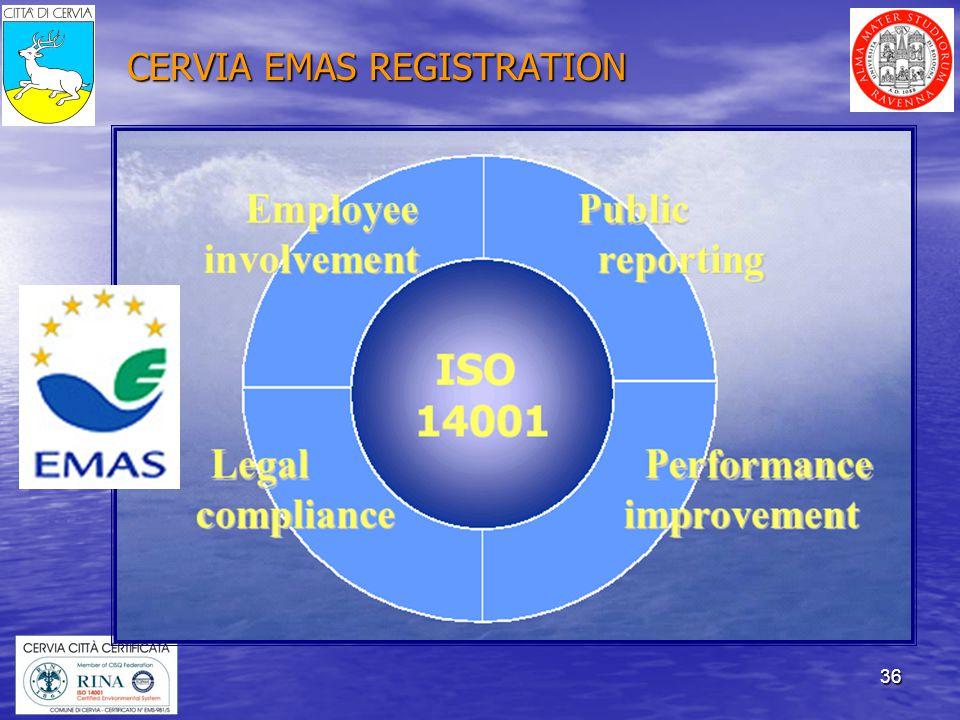 36 CERVIA EMAS REGISTRATION