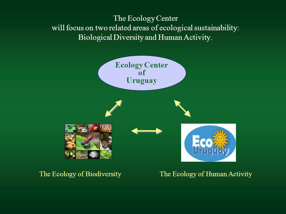 The Ecology Center will focus on two related areas of ecological sustainability: Biological Diversity and Human Activity. Ecology Center of Uruguay Th