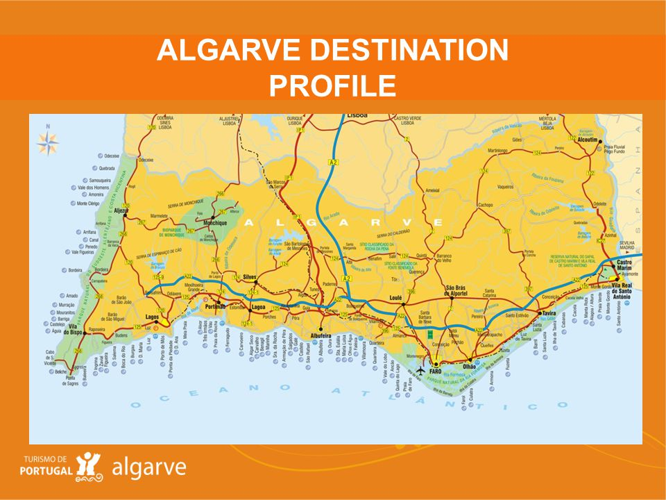 Location: Southern most region in Portugal framed by a 200km coastline with beautiful sandy coves, sheltered bays, fascinating cliff formations and long golden beaches Climate: The Algarve has a warm and sunny climate with mild winters.