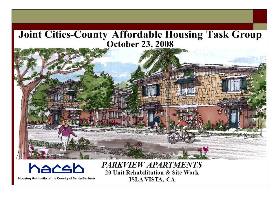 PARKVIEW APARTMENTS 20 Unit Rehabilitation & Site Work ISLA VISTA, CA.