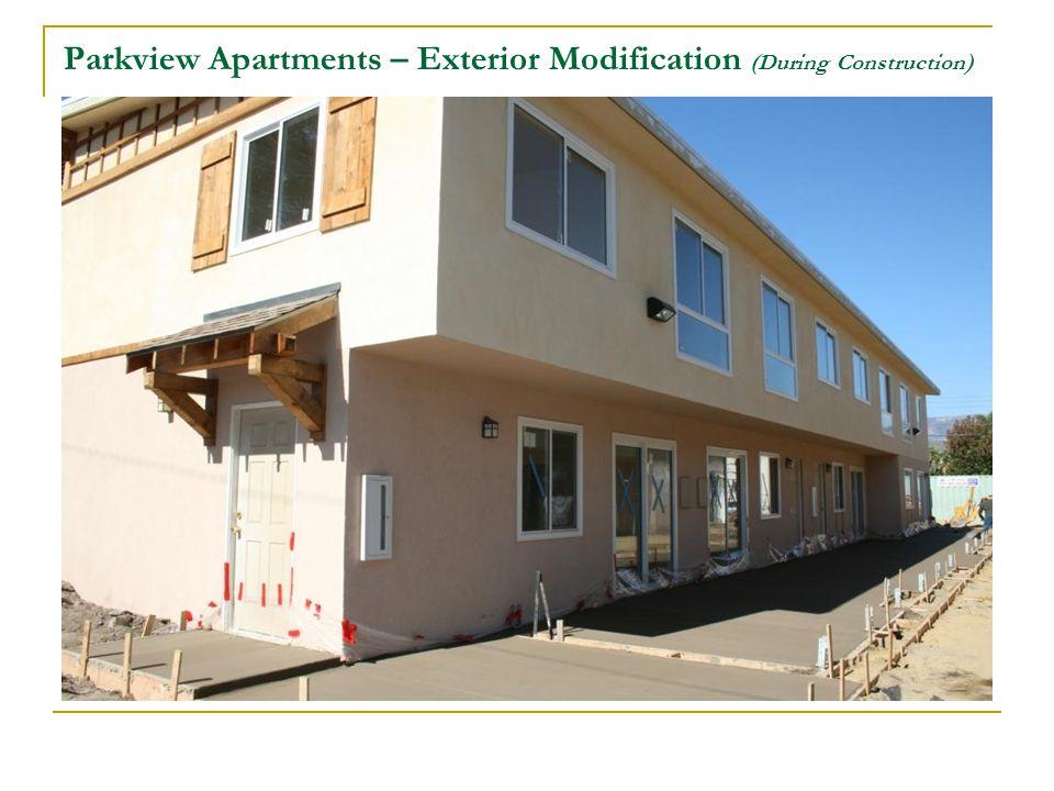 Parkview Apartments – Exterior Modification (During Construction)