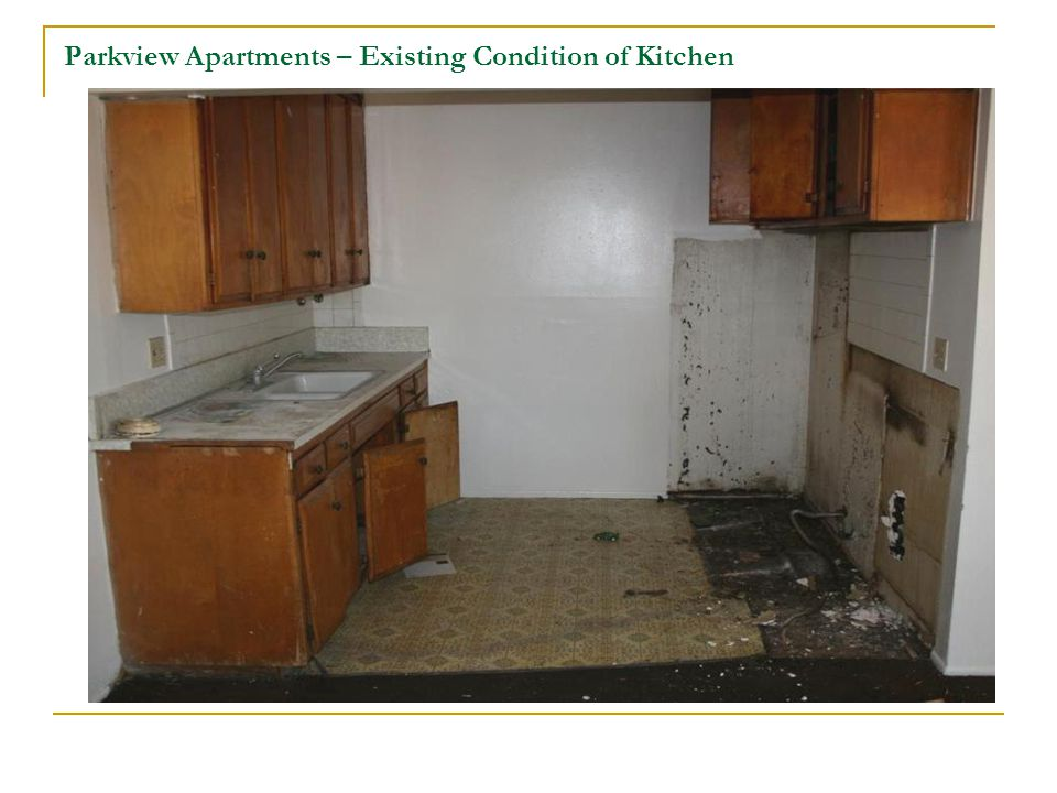 Parkview Apartments – Existing Condition of Kitchen