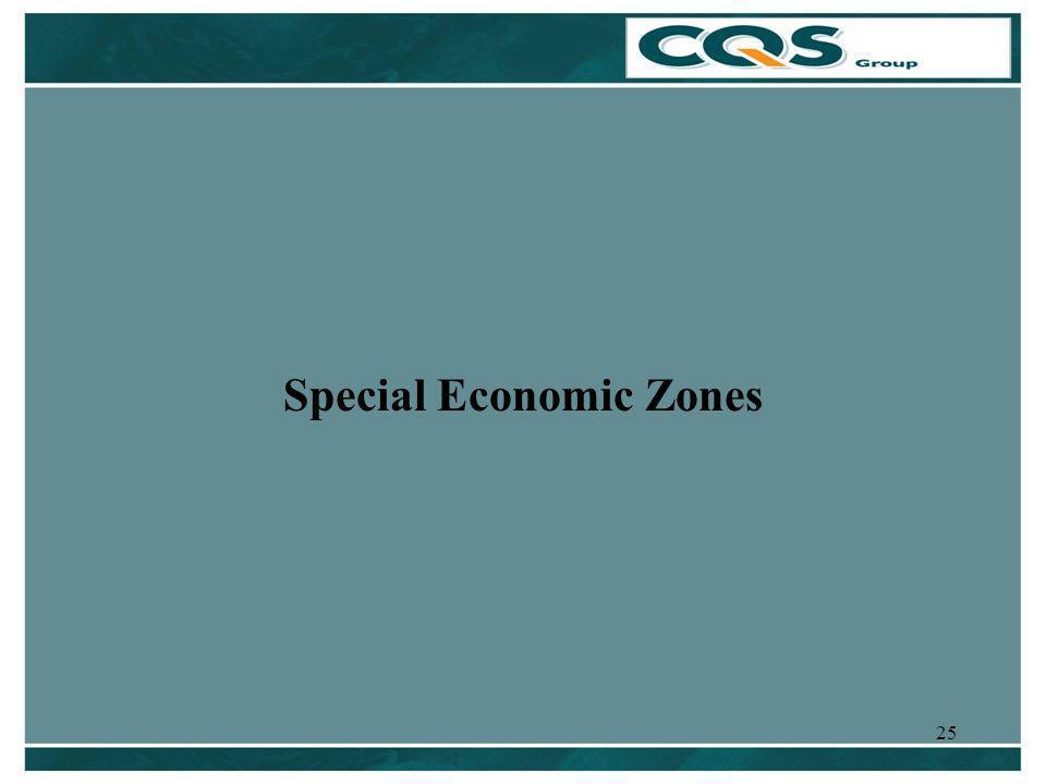 25 Special Economic Zones