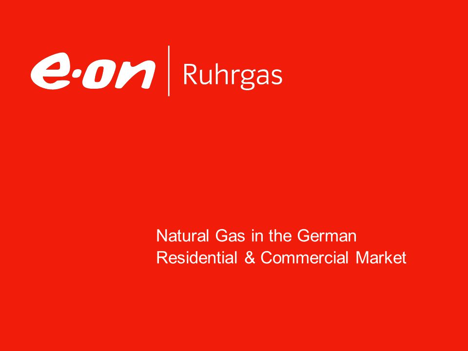 Natural Gas in the German Residential & Commercial Market