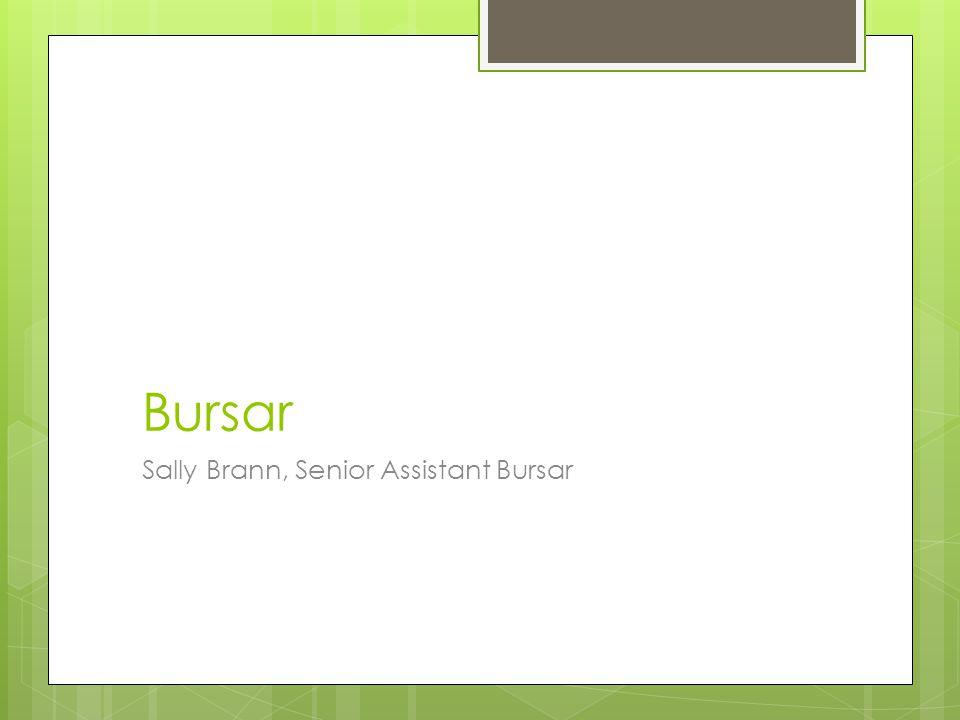 Bursar Sally Brann, Senior Assistant Bursar